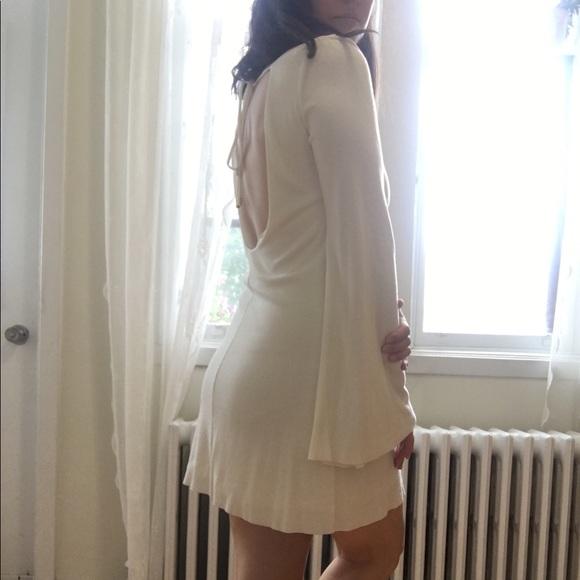 Zara 70's style mini dress with open back